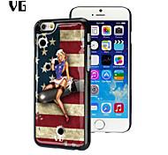 USA Flag Design Umwelt Anti-Rutsch-Epoxidharz klebrig glänzenden mobilen Epoxy-harter Fall für iphone 6