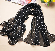 Women's Casual Polyester/Chiffon Dot Thin Scarves