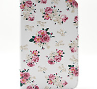 flores spider®small mágicos pu carteira de couro da tampa do caso estar com protetor de tela para Samsung Galaxy Tab t110 / T116