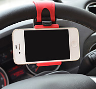 Universal Car Steering Wheel Mobile Phone Mount Holder for iPhone / Samsung / Huawei / Sony / Nokia / Xiaomi and Other Cell Phone