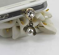 Fashion Retro Smile Simulated-pearl Pendant Dust Plug General Type