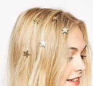 Европейский стиль мода золотые звезды включите пружинный зажим невесты головной убор шпилька (один)