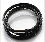 Bracelet Bracelets Wrap Cuir Quotidien / Décontracté Bijoux Cadeau Café / Noir / Blanc,1pc