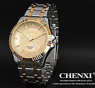 elegantes Design Kleid chenxi® Herrenuhren japanische Quarzwasserdicht Stahlband