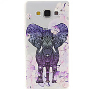 Flowers Elephant Pattern TPU Diamond Relief Back Cover Case for Samsung Galaxy A7