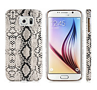 Snakeskin Pattern Plastic Protective Case for Samsung Galaxy S6