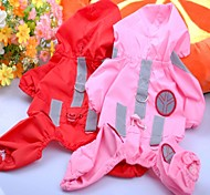 Dog Rain Coat Red / Pink / Rose Summer Classic Waterproof / Cosplay