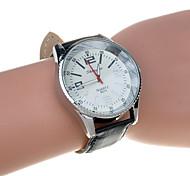 Men's  Fashion Big Dail PU Leather  Quartz Watch(Assorted Color)