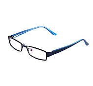 [Free Lenses] Metal Rectangle Full-Rim Fashion Prescription Eyeglasses