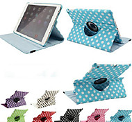 PU Leather Rotate 360 Degrees White Dot Style for iPad Air (Assorted Colors)