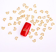 10PCS Gold Nail Art Jewelry Golden Butterfly Aryclic Nail Tips Decorations Nail Art Stud for DIY Salon Nails