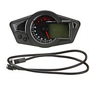 LCD Digital velocímetro odômetro tacômetro moto com backlight