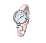 Women's Diamond Wrist Watch With Heart Pendant