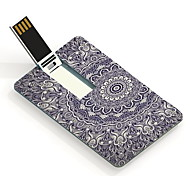 16GB Elegant Flower Design Card USB Flash Drive
