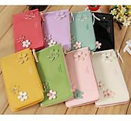 brillants trois fleuron sac de téléphone mobile en cuir verni en cuir PU pour iPhone 4g / 4s / 5s / 5c / 6 (couleurs assorties)