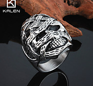 Kalen Men's Jewelry Fashion Online 2015 Stainless Steel Skull Ring