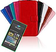 seguinte de design suave pu bolsa louco para nokia lumia 730 (cores sortidas)