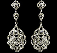 Big Rhinestones Drop Vintage Dangle Brides Bridesmaids Wedding Party Earring