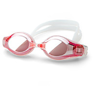 Winmax® Women Red Electroplating PC Lens 200 Degree Short Sighted/Myopia Swimming Goggles