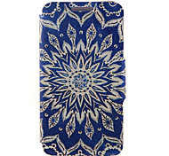 Kinston® Blue Sun Flowers Pattern PU Leather Full Body Cover with Stand for Huawei P8