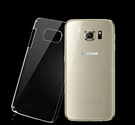 Transparent PC Back Cover Case for Samsung Galaxy S6 Edge
