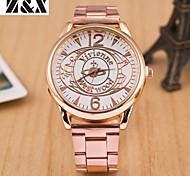 relógio de quartzo diamante cruz cinta de aço analógico das mulheres (cores sortidas)
