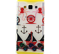 Octopus Anchors Pattern TPU Relief Back Cover Case for Samsung Galaxy A5