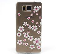 samsung galaxy g850f alfa compatibles flores rosadas con diamante diseño TPU caso de la contraportada