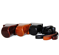 Dengpin PU Leather Oil Skin Detachable Camera Cover Case Bag for Canon PowerShot SX530 HS SX520 HS (Assorted Colors)