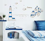 Fashion Blue Mediterranean PVC Wall Stickers Wall Art Decals
