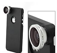 apexel desmontable 180 ° de ojo de pez lente ojo de pez con el caso de la contraportada para el iphone 5 / 5s (color clasificado)