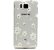 Dandelion Pattern with Bling Diamond TPU Soft Back Cover Case for Samsung Galaxy Alpha G850