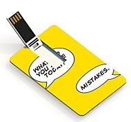 32GB Make Mistakes Design Card USB Flash Drive