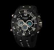 negócio movimento duplo movimento anti impermeáveis novos homens da moda outono marcação grande relógios lcd bwl811