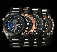New fashion men's business double movement movement waterproof anti fall large dial watches LCD BWL600
