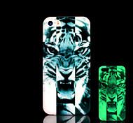 tigre patrón resplandor en el caso duro para el iphone 5 oscuro / iphone 5 s