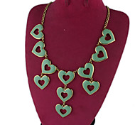 Green Heart Necklaces 1pc