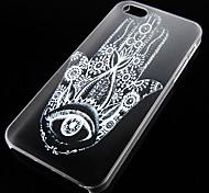 tapa marca padrão caso de volta transparente para iphone5 / 5s
