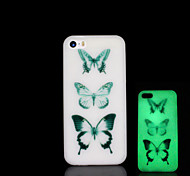 Butterfly Pattern Glow in the Dark Hard Case for iPhone 5 / iPhone 5 S
