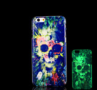 Skull Pattern Glow in the Dark Cover for iPhone 6 Plus Case