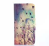 Be Free Birds Pattern PU Leather Full Body Case with Card Slots And Stand Case for Samsung Galaxy A3