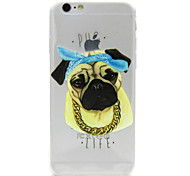 Pug Painting Transparent TPU Falling Proof Case for iPhone 6