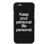 Fashion Design PC Hard Case for iPhone 6 Plus