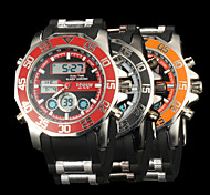 New fashion men's business double movement movement waterproof anti fall large dial watches LCD BWL597