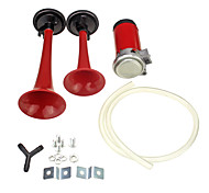 Red Dual Trumpet Air Horn 12 Volt 135dB