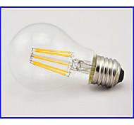 Lámparas LED de Filamento Decorativa E26/E27 8 W 8 COB 660 LM Blanco Cálido AC 85-265 V 1 pieza