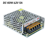 AC input 85-265V,DC output 60W 12V 5A switching power supply for led strip lights