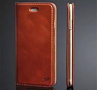 couro duro caso ultra slim folio virar capa para o iPhone 6 (cores sortidas)