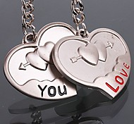 Zinc Alloy Loving Heart Shaped Key Chain (1 PS)