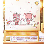 Lovely Romantic Bears PVC Wall Stickers Wall Art Decals